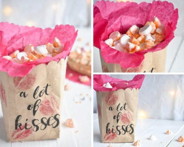 Baiser Küsschen zum Valentinstag