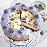 Blaubeer Cookie Cheesecake