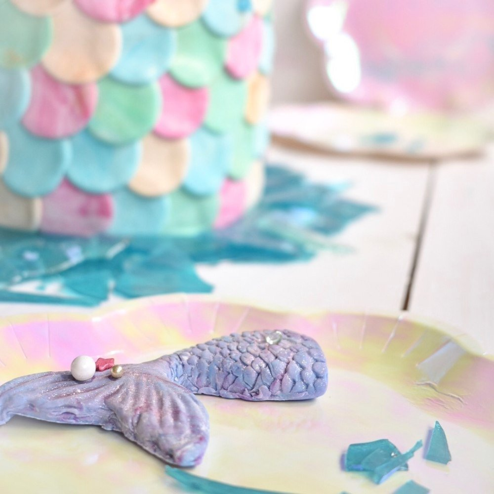 Mermaid Flosse aus Fondant
