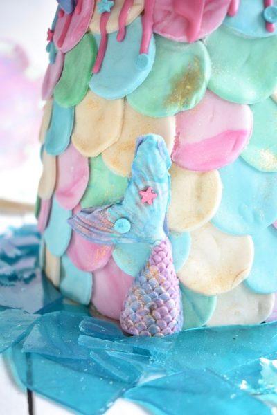 Fondant Schuppen für Mermaid Cake