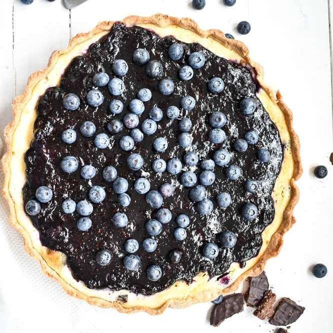 Blaubeer Cheesecake Tarte