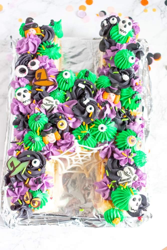 gruselige Halloween Torte