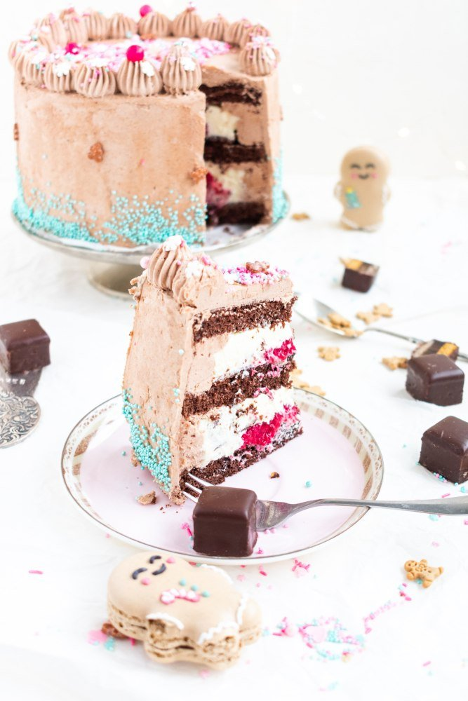Lebkuchen Torte Anschnitt