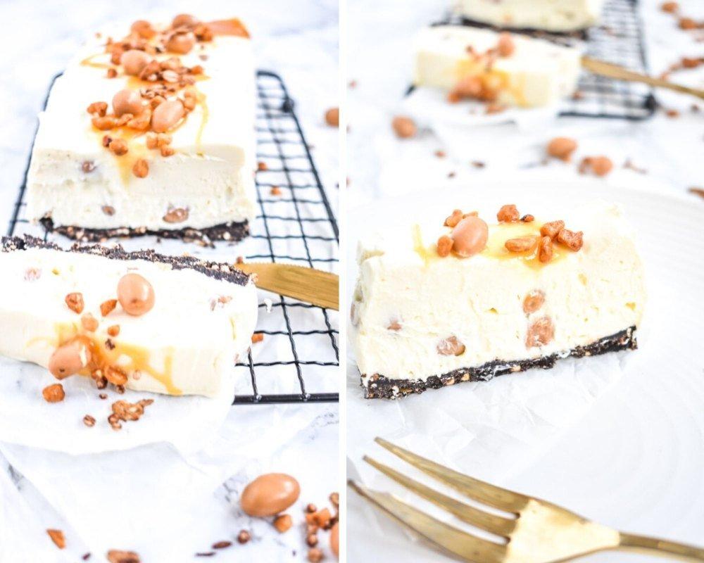 Cheesecake mit Salzkaramell Erdnüssen