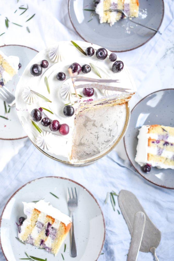 Blaubeer Rosmarin Torte