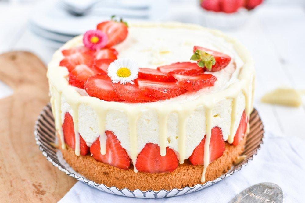 Erdbeer Schokoladen Cheesecake