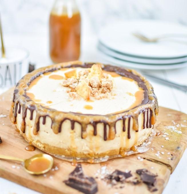 Salted Caramel Cheesecake mit Schokodrip