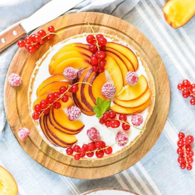 Somerliche Joghurt Frucht Tarte