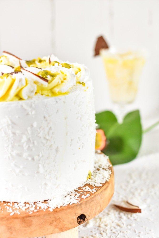 Kokos Passionsfrucht Torte