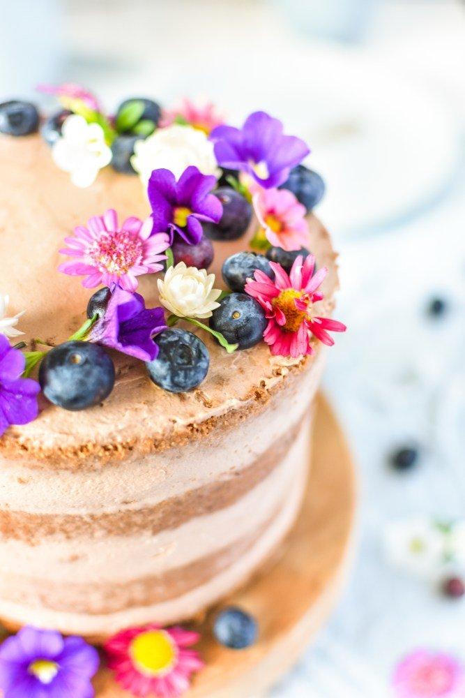 Schokoladen Blaubeer Torte