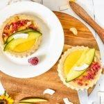 Vegane no bake Mango Tartelettes